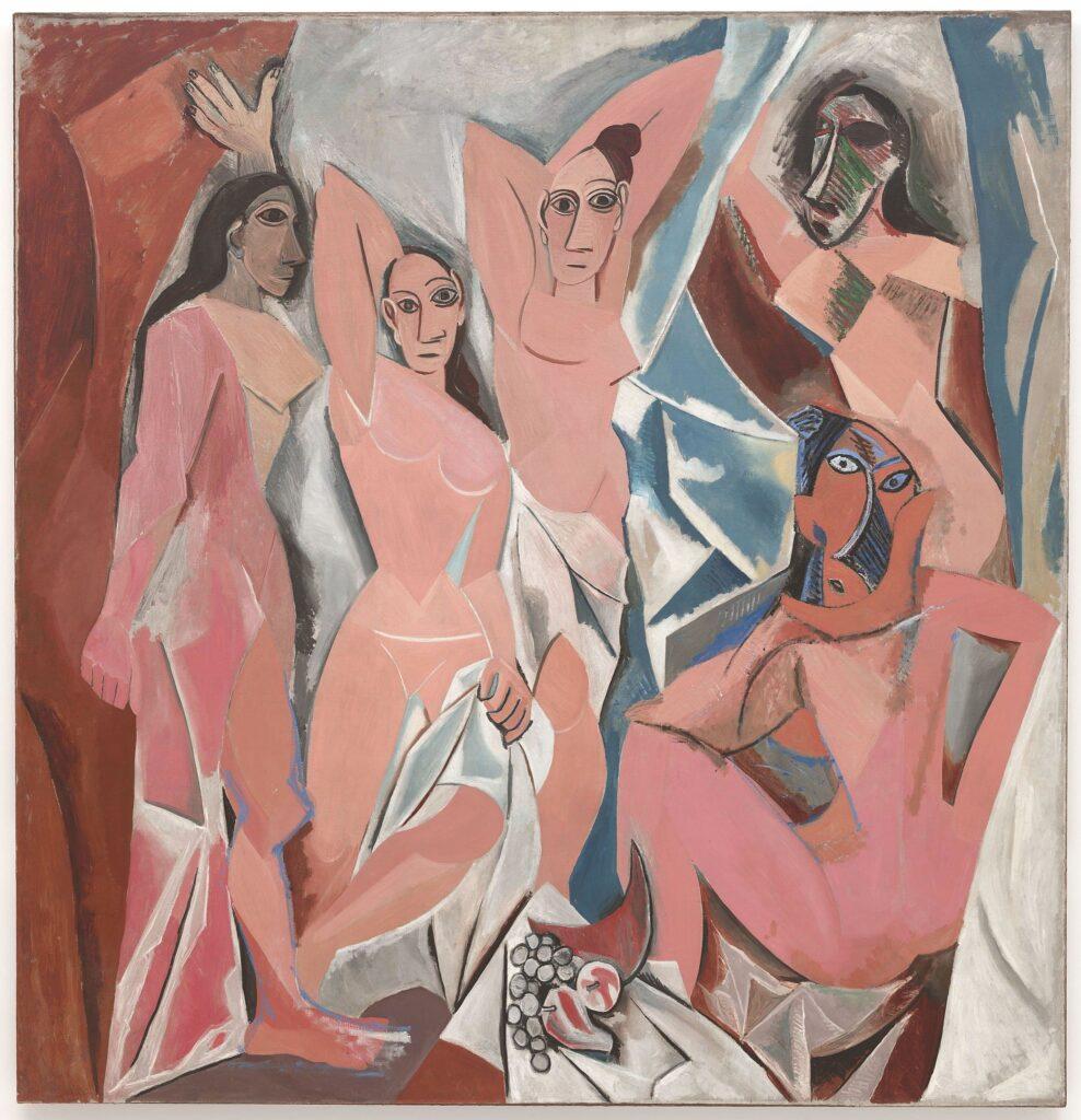 Cubisme analytique: Pablo Picasso - Les demoiselles d'Avignon.