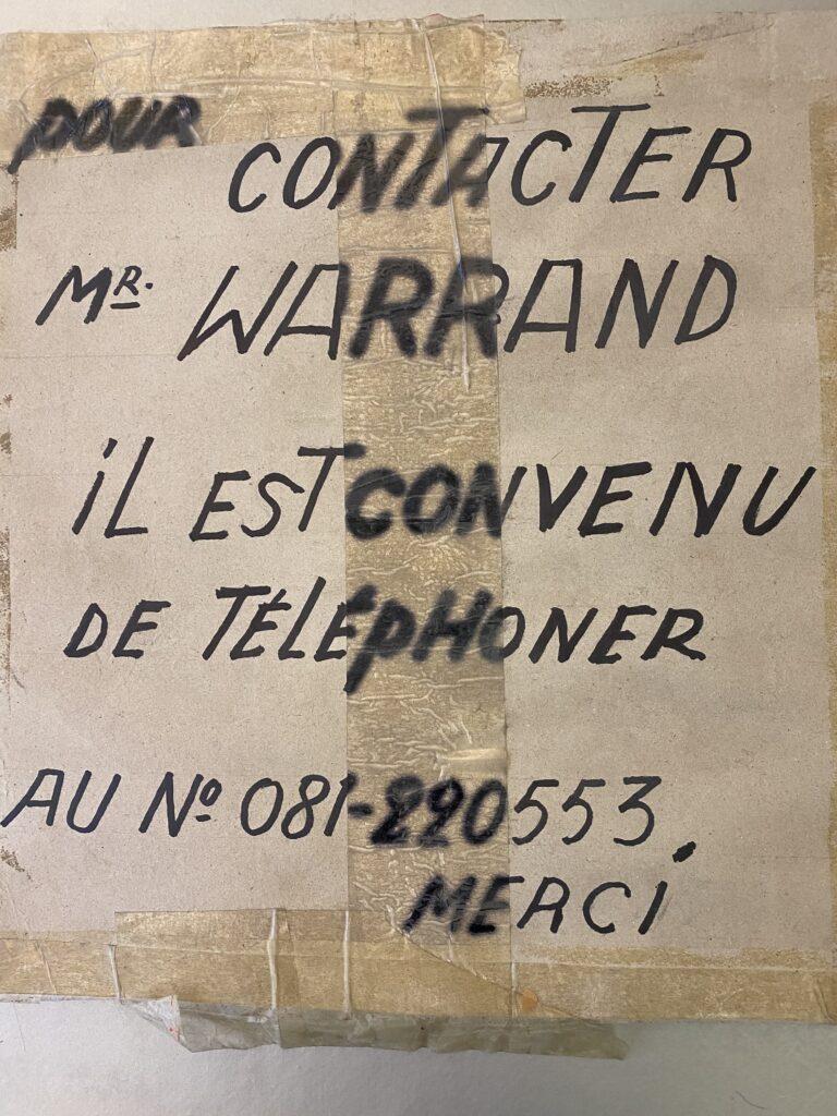 Marcel Warrand - Affiche