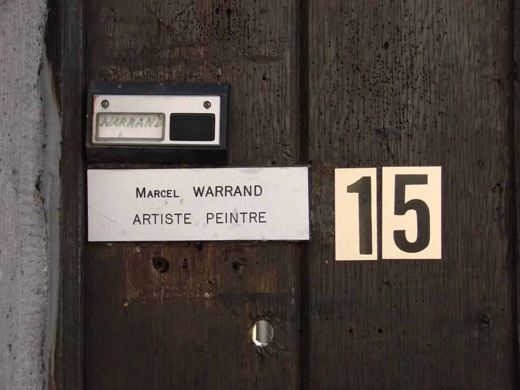 Marcel Warrand - Sonnette porte