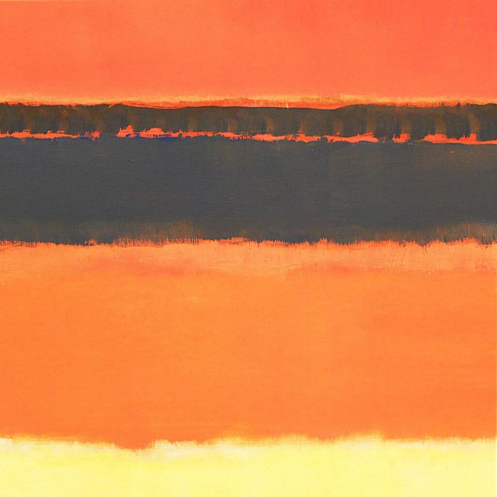 Mark Rothko, Sans titre, Rouge, Noir, Orange et Rose sur Jaune), 1954, Tate Modern, Londres